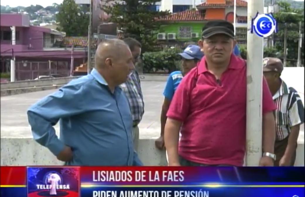 Lisiados de la FAES piden aumento de pensión