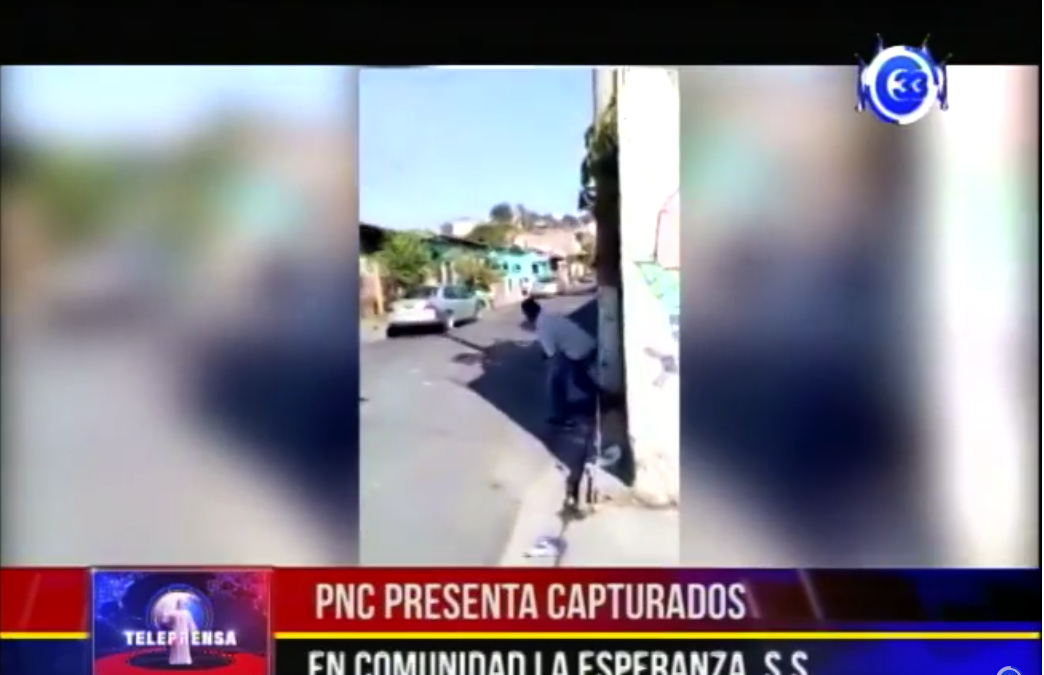 PNC presenta capturados en comunidad la esperanza, SS.