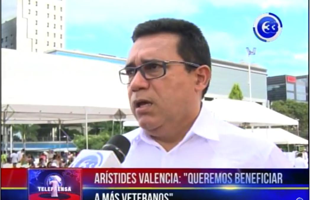 """Arístides Valencia: """"queremos beneficiar a más veteranos"""""""