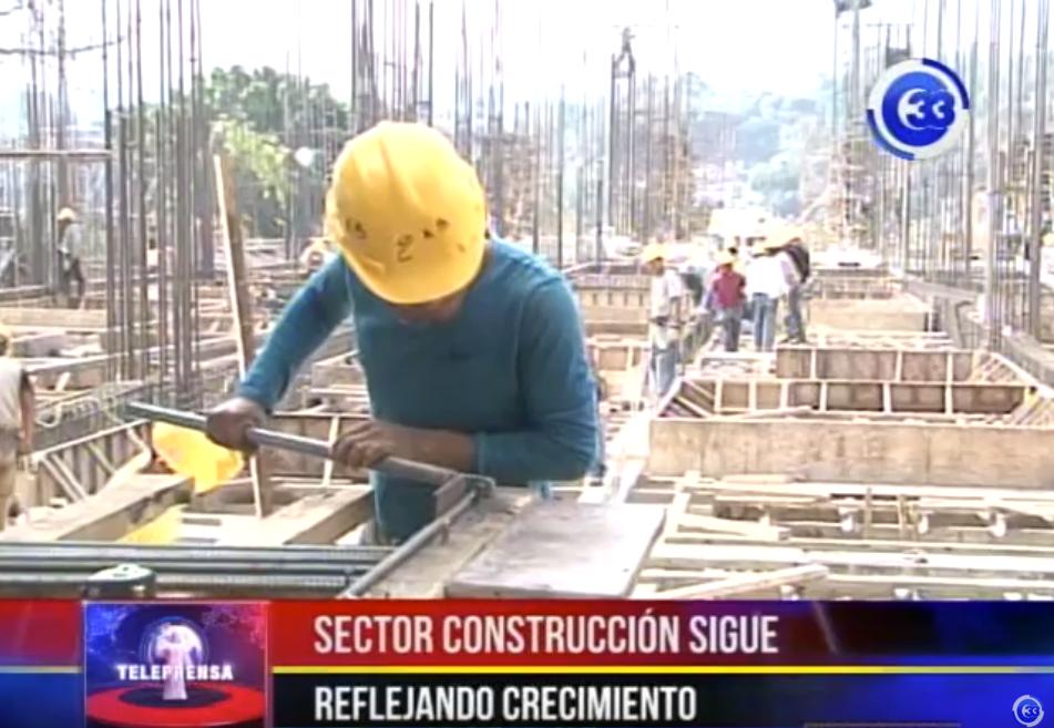 Sector construcción sigue reflejando crecimiento