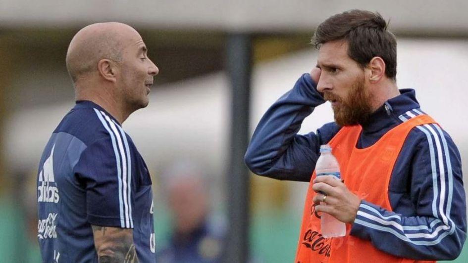 """Sampaoli: """"Messi necesita un proceso para ser campeón del mundo en 2022"""""""