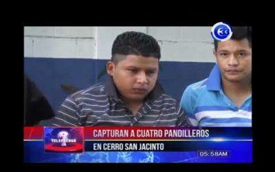 Capturan a cuatro pandilleros en cerro San Jacinto