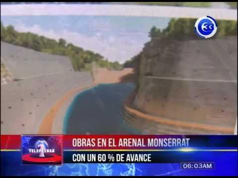 Obras en el arenal de Monserrat con un 60% de avance